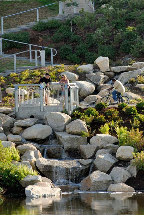 1000 images about multifunctional landscape on pinterest for Urban waterfall design